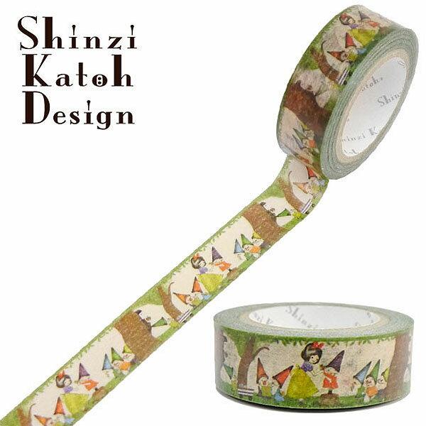 マスキングテープ シール堂 シンジカトウ/Shinzi Katoh Snow White present ks-mt-10136 15mm×10m