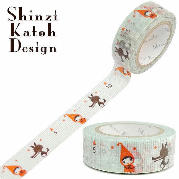 マスキングテープ シール堂 シンジカトウ Shinzi Katoh measure Red Hood Pochon ks-mt-10139 15mm×10m