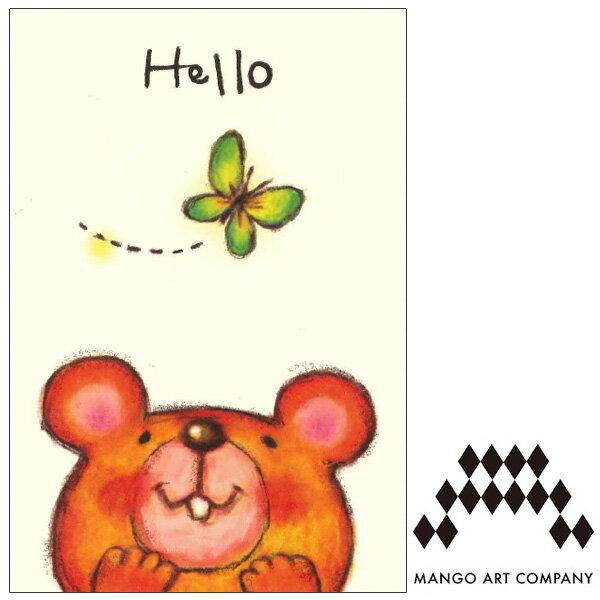ポストカード MANGO ART COMPANY kana shimao hello クマ
