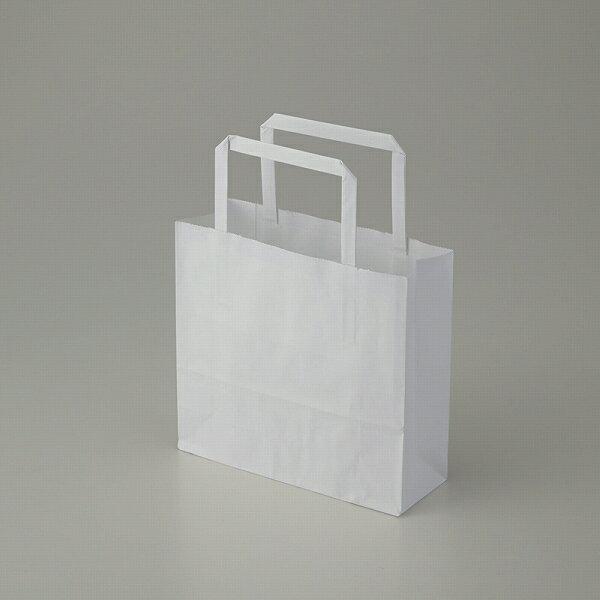紙袋 手提げ HEIKO シモジマ H25チャームバッグ(25CB) 18-2 晒白無地 (50枚入)