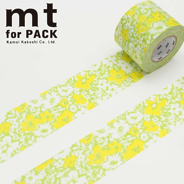 梱包用粘着テープ 幅広 mt カモ井加工紙 mt for PACK 花柄(45mm×15m)MTPACK04