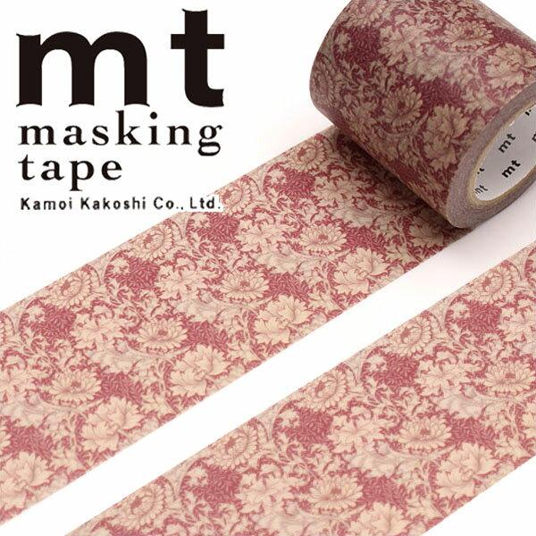 マスキングテープ マステ 幅広 mt カモ井加工紙 mt×ウィリアム・モリス chrysanthemum(50mm×10m)MTWILL03