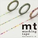 マスキングテープ マステ mt カモ井加工紙 mt slim 3mm ポップ 3巻入りパック(3mm×10m)MTSLIMS06