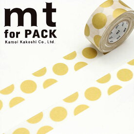 梱包用粘着テープ 幅広mt カモ井加工紙mt for PACK ドット・金(25mm×15m)MTPACK06
