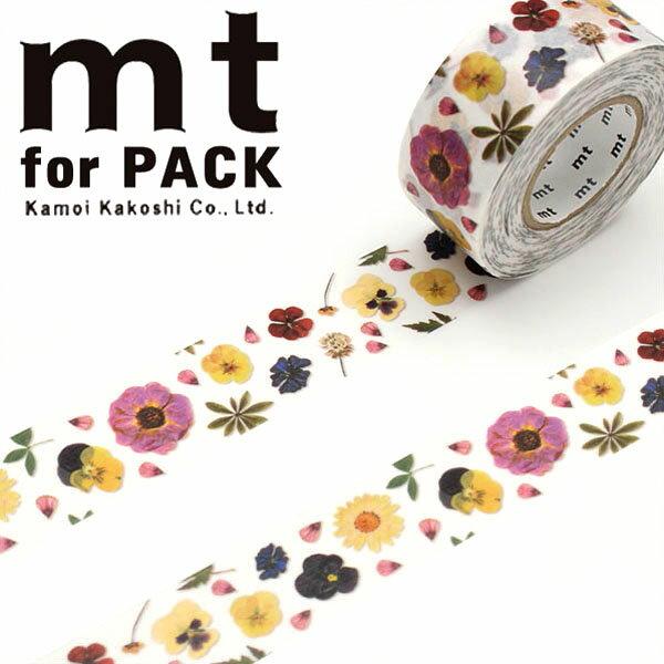 梱包用粘着テープ 幅広 mt カモ井加工紙 mt for PACK 押し花(25mm×15m)MTPACK09
