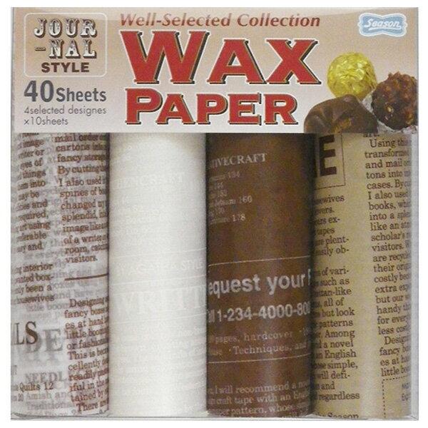ワックスペーパー Season シーズン セレクトWAXペーパーセット ジャーナルスタイル PG-804 15×15cm・40枚 4柄×10枚