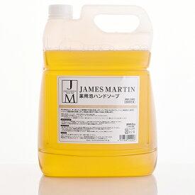 【楽天スーパーSALE限定特価】JAMES MARTIN ジェームズ・マーティン 薬用泡ハンドソープ 詰め替え用 5kg