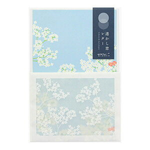 【クーポン配布中】レターセット midori ミドリ 透かし窓 花柄 86447006