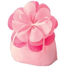 ギフトラッピングバッグ 不織布バッグ ブルーミング巾着(大) ライトピンク LP071S(10枚入り)