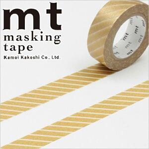マスキングテープmtカモ井加工紙mt1Pストライプ・ゴールド(15mmx10m)MT01D144・1巻