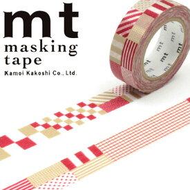 マスキングテープ mt カモ井加工紙mt1Pミックス・レッド (15mmx10m)MT01D121・1巻