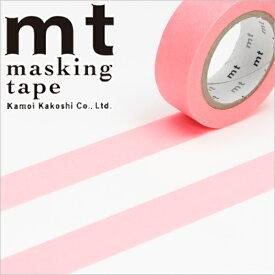 マスキングテープ mt カモ井加工紙mt1P 無地ショッキングレッド (15mmx10m)MT01P210・1巻