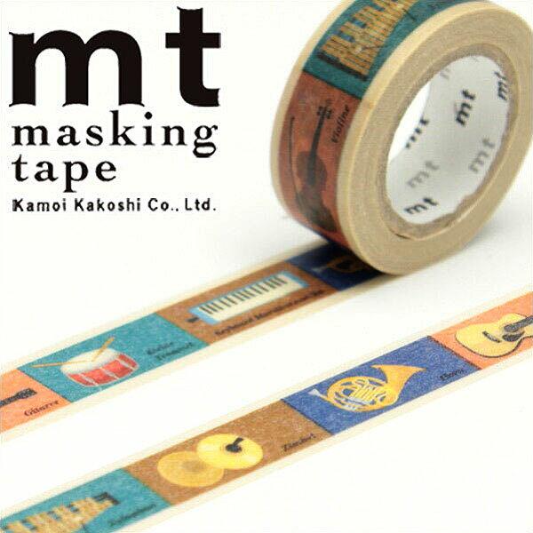 マスキングテープ マステ mt カモ井加工紙 mtfor kids 楽器テープ (15mmx7m ミニ紙管) MT01KID011・1巻