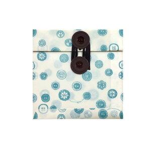 玉紐付きワックスペーパーバッグ ぐるぐる糸巻き(封筒タイプ) 三和蝋紙所 ボタン(ホワイト) GRB-01WH
