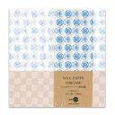 ワックスペーパー折り紙(24枚入り)三和蝋紙所15cm角幾何学(ホワイト) ORK-01WH