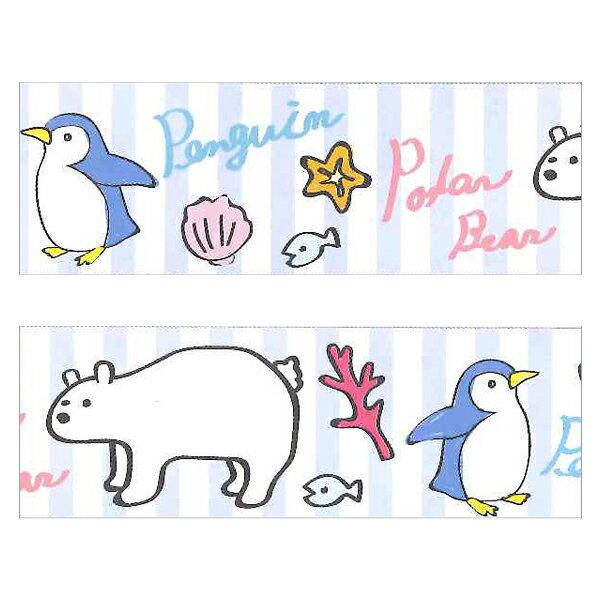 プライムナカムラ パッキングテープ(柄入りOPPテープ) ペンギンとシロクマ (48mm×25m)