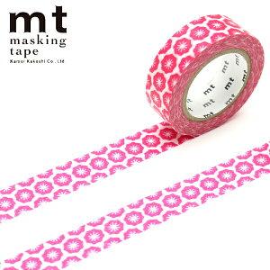 【クーポン配布中】マスキングテープ mt カモ井加工紙mt ex 1p 花・ハンコ(15mmx10m)MTEX1P125
