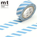 マスキングテープ  mt カモ井加工紙 mt 1P (15mmx10m)MT01D374 ストライプ グレイッシュスカイ