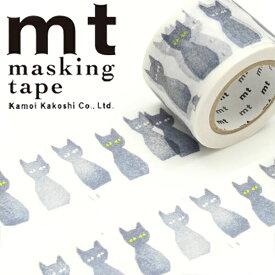 マスキングテープ mt カモ井加工紙mt x ミナ ペルホネンkuro-neko(30mm×10m)MTMINA36