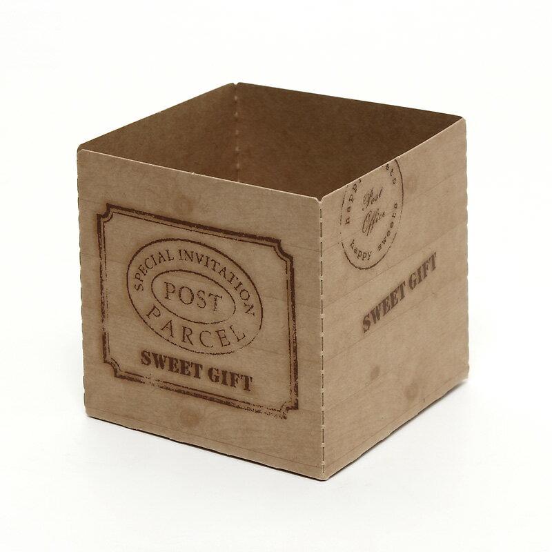 製菓資材 PMB35-018 キューブカップ60 ウッディー(7枚入り)(ベーキングカップ)