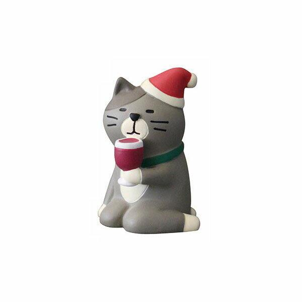 クリスマス ディスプレイDECOLE デコレconcombre コンコンブルうっとりワイン猫 ZXS-74025