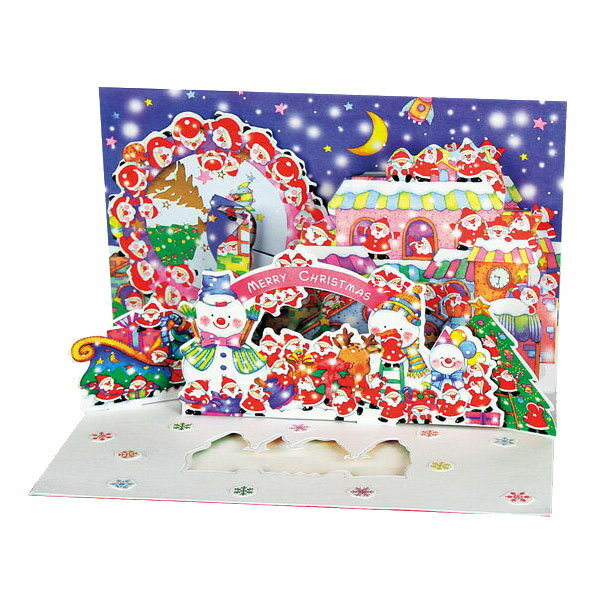 クリスマスカード APJミニサンタポップアップカードXC-1000094197