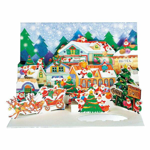 クリスマスカード APJミニサンタポップアップカードXC-1000094199