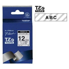 ラベルライター カートリッジブラザー ピータッチテープ12mm幅 透明 黒文字TZe-131