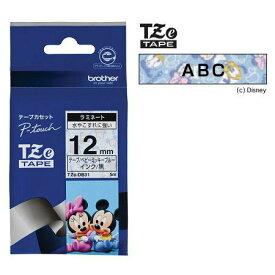 ラベルライター カートリッジブラザー ピータッチテープ12mm幅 ベビーミッキーブルー 黒文字TZe-DB31