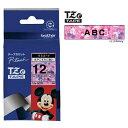 ラベルライター カートリッジブラザー ピータッチテープ12mm幅 ミッキー&ミニーピンク 黒文字TZe-DP31