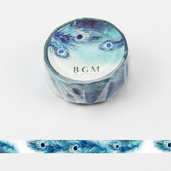 マスキングテープ マステBGM ビージーエム孔雀 BM-SPS016 四季の色