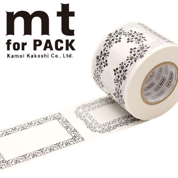 梱包用粘着テープ 幅広mt カモ井加工紙mt for PACK 飾り罫45mm×15mMTPACK11 1巻