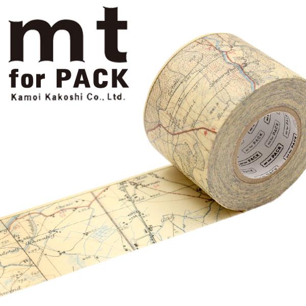 梱包用粘着テープ 幅広mt カモ井加工紙mt for PACK 地図ヴィンテージ45mm×15mMTPACK13 1巻