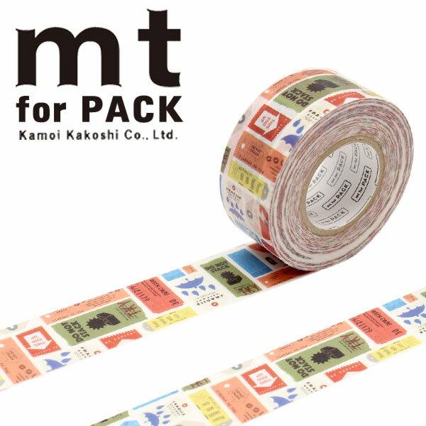 梱包用粘着テープ 幅広mt カモ井加工紙mt for PACK ケアタグ25mm×15mMTPACK16 1巻