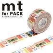 梱包用粘着テープ幅広mtカモ井加工紙mtforPACKケアタグ25mm×15mMTPACK161巻