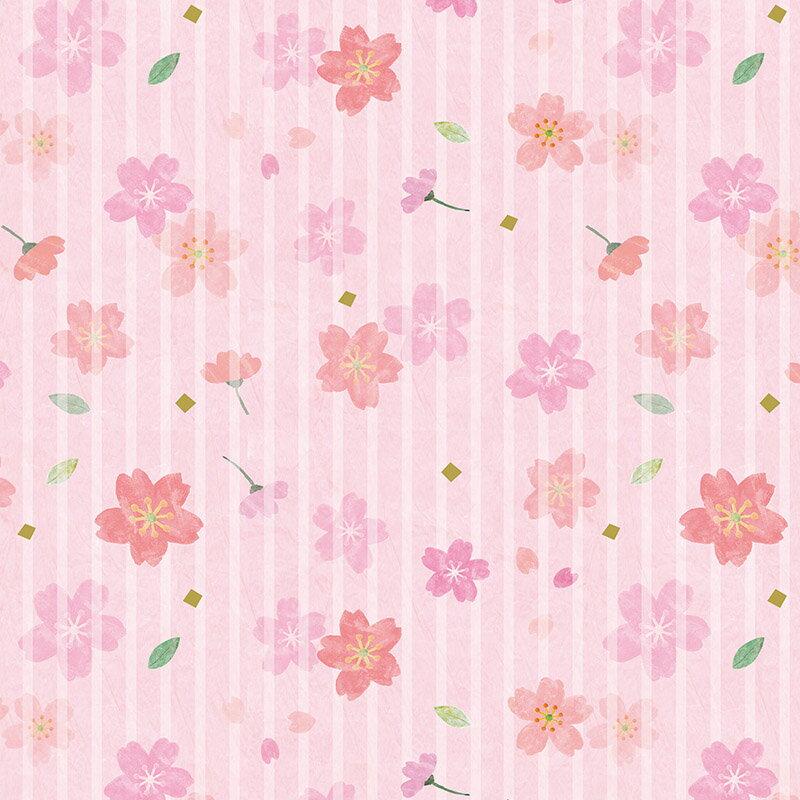 包装紙 HEIKO シモジマラッピングペーパー透かし桜 半才 50枚入り