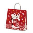 正月 紙袋 手提げHEIKO シモジマ 福袋用紙袋25チャームバッグふくねこ 3才 50枚入り