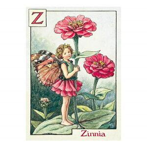 【クーポン配布中】ポストカードグリーンフラッシュ GreenFlash FLOWER FAIRIESFF-032 The Zinnia Fairy