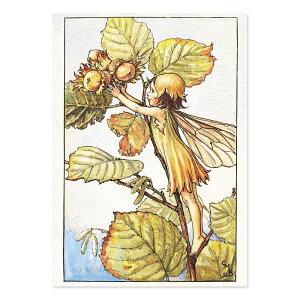 【クーポン配布中】ポストカードグリーンフラッシュ GreenFlash FLOWER FAIRIESFF-035 The Hazel Nut Fairy