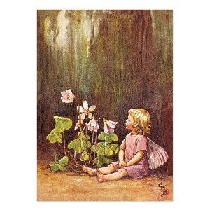【クーポン配布中】ポストカードグリーンフラッシュ GreenFlash FLOWER FAIRIESFF-047 The Wood sorrel Fairy