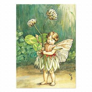 【クーポン配布中】ポストカードグリーンフラッシュ GreenFlash FLOWER FAIRIESFF-048 The WhiteClover Fairy