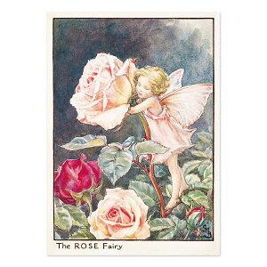 【クーポン配布中】ポストカードグリーンフラッシュ GreenFlash FLOWER FAIRIESFF-051 The Rose Fairy