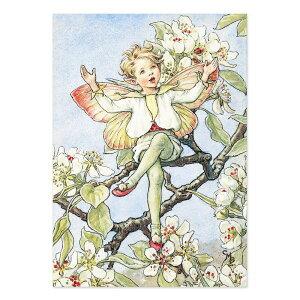 【クーポン配布中】ポストカードグリーンフラッシュ GreenFlash FLOWER FAIRIESFF-053 The Pear Blossom Fairy