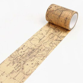 在庫限り!マスキングテープ東京アンティークAMA-60WO 世界地図60mm×8m