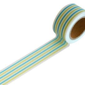 デザイン養生テープ YOJO TAPE小屋女子DIYカフェラッピングYOJOテープ 強粘着キャンディ ブルー mini RYJ-24幅25mm×5m