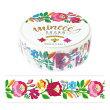 マスキングテープワールドクラフトミンイー民族衣装柄FlowerBloomフラワーブルームMZMT15-001(15mm×5m)