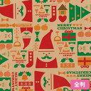 クリスマス 包装紙 ラッピングペーパー HEIKO シモジマ ウッドトイ 全判 50枚