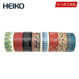 クリスマス先行SALEマスキングテープ 8巻セットHEIKO シモジマクリスマスセットネコポス送料無料