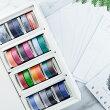 マスキングテープ自己印マスキングテープ1.5mmx5m×24巻白ポストカード12枚セットZCI1001399