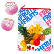 HEIKO包装紙ポーチコレクション1レターフルーツ20cm